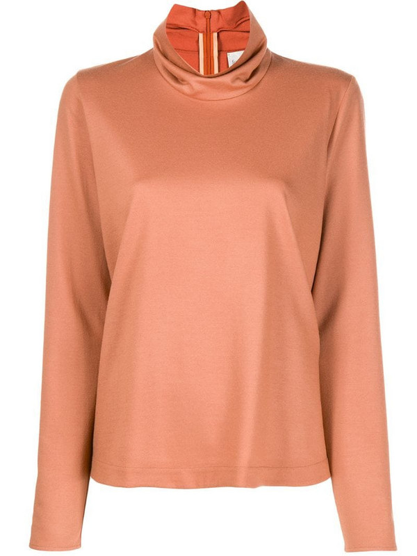 Forte Forte ruffled-neck sweater in neutrals