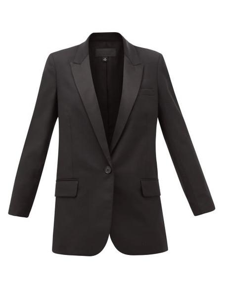 Nili Lotan - Arlin Single-breasted Wool-blend Jacket - Womens - Black