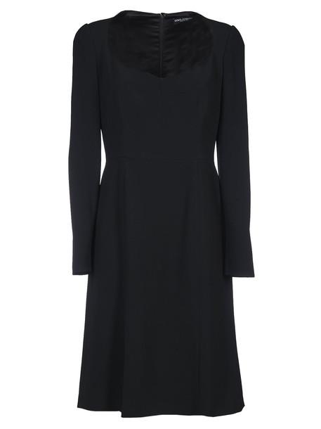 Dolce & Gabbana Scoop Neck Dress in black