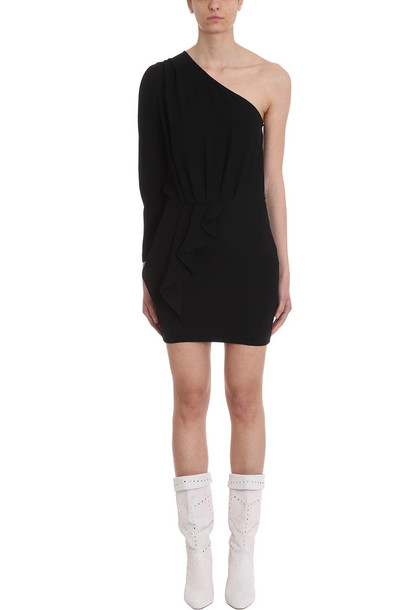IRO Cypress Black One Shoulder Cr?pe Dress