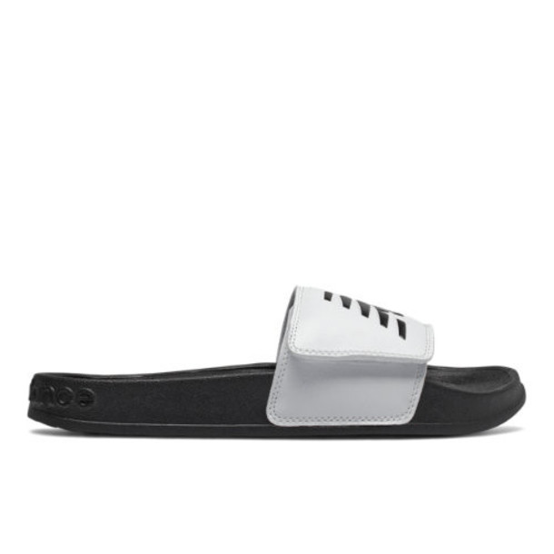 New Balance 200 Adjustable Women's Slides Shoes - White/Black (SWA200W1)