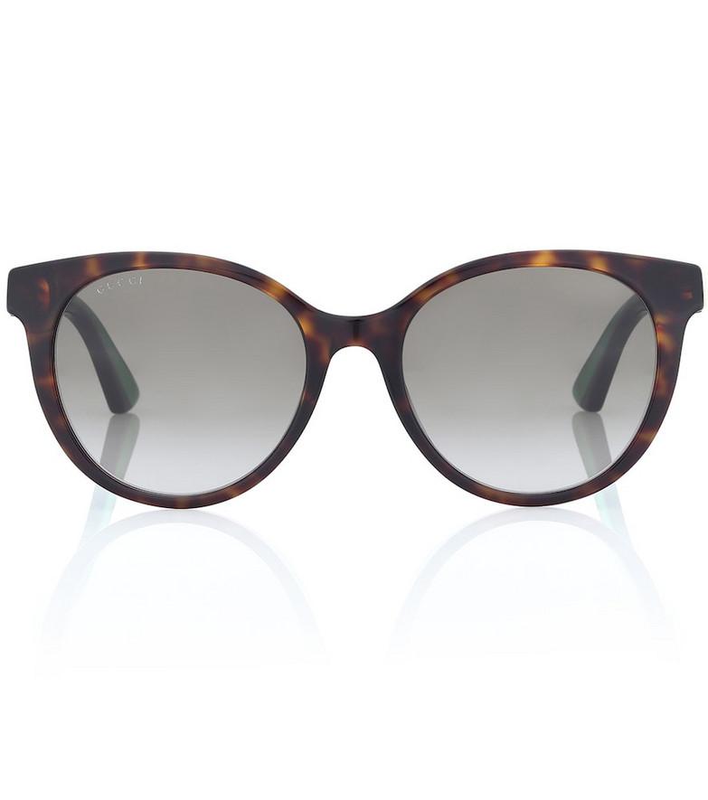 Gucci Round acetate sunglasses in brown