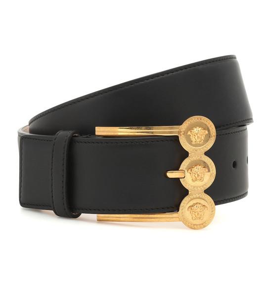 Versace Leather belt in black