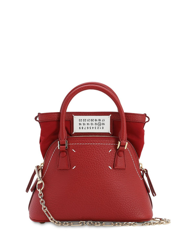 MAISON MARGIELA Micro 5ac Leather Bag in red