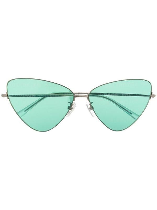 Balenciaga Eyewear Invisible cat-eye frame sunglasses in silver