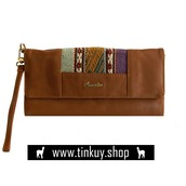 bag,peruvian wallet,handcrafted leather wallet,light brown wallet,leather wallet for women,leather wallet for sale,artisan peruvian wallet,ayacucho tapestry,ladies leather wallet,cheap leather wallet