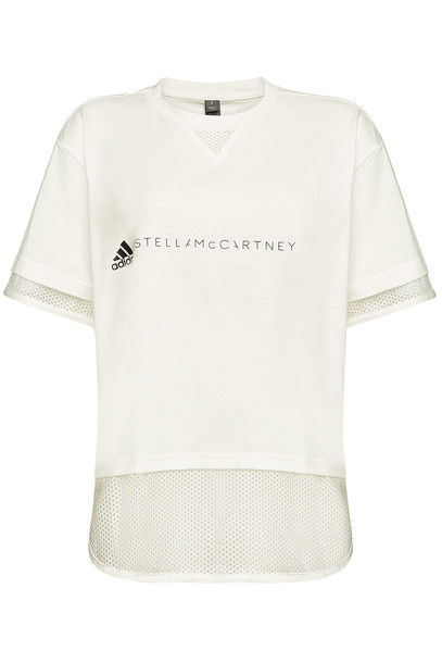 Adidas by Stella McCartney Printed T-Shirt with Cotton  in white