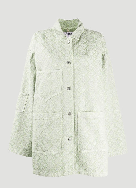 Acne Studios Jacquard Denim Jacket in Green size FR - 34