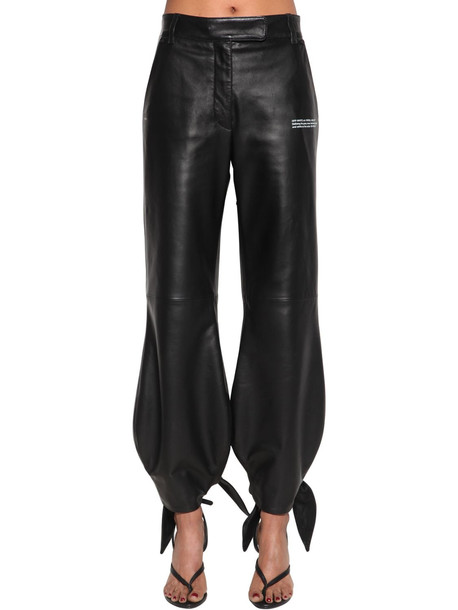 OFF-WHITE Leather Pants in black