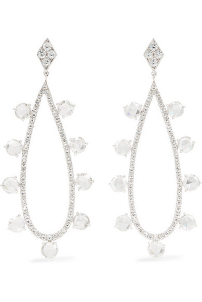 Martin Katz - 18-karat White Gold Diamond Earrings