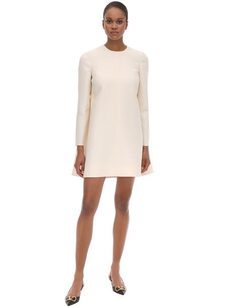 VALENTINO Couture Crepe Cape Mini Dress in ivory