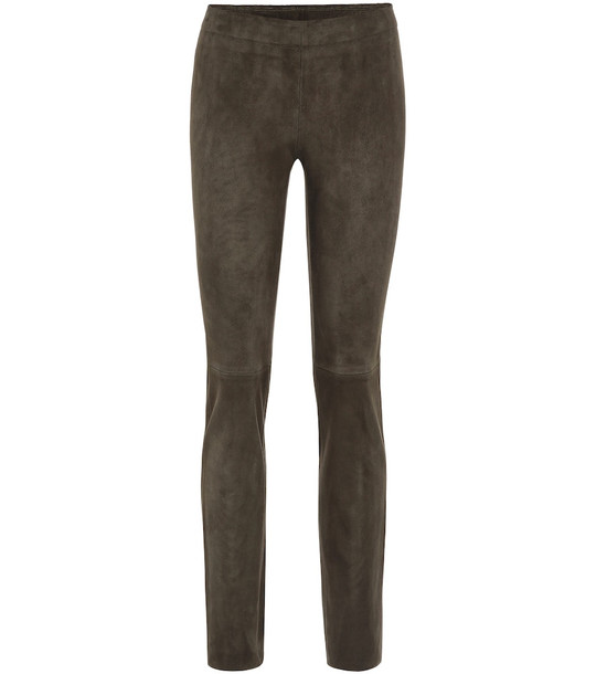 Stouls Jack straight suede pants in grey