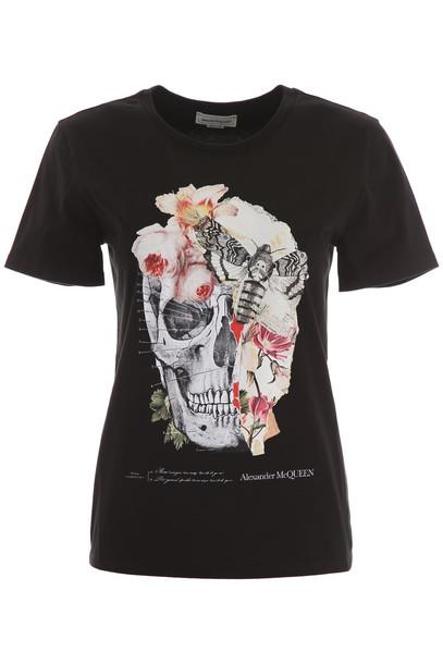 Alexander McQueen Skull T-shirt in black / white