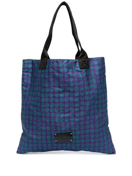 10 CORSO COMO geometric print tote bag in purple