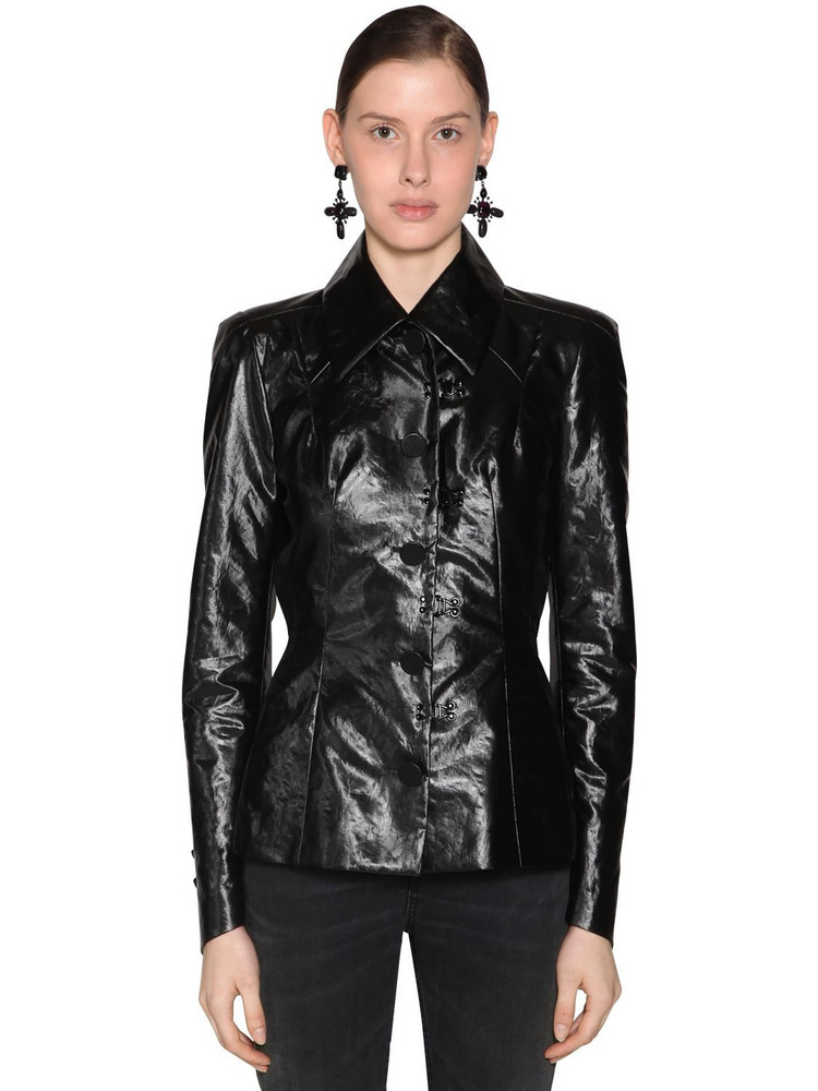 OLIVIER THEYSKENS Fitted One Breast Jacket in black