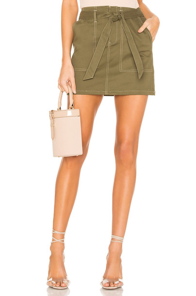superdown Marina Contrast Stitch Skirt