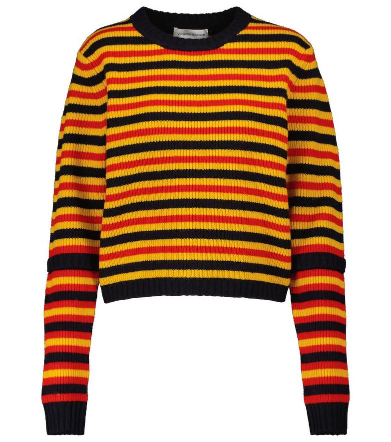 Victoria Beckham Wool sweater in yellow