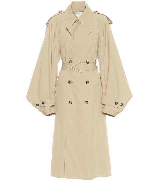 Bottega Veneta Cotton-blend gabardine trench coat in beige