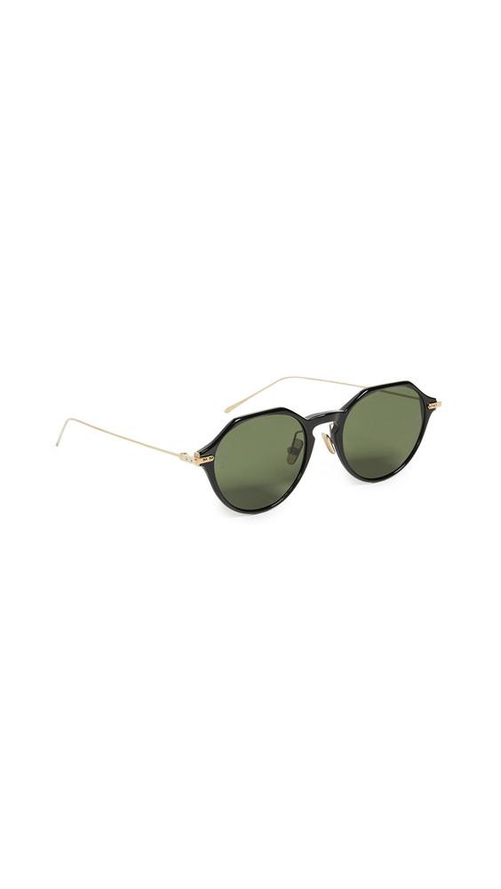 Linda Farrow Luxe Linear Geometric Sunglasses in black