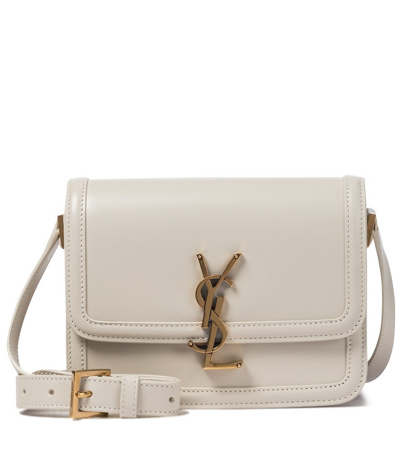 Saint Laurent Solferino Small leather crossbody bag in beige