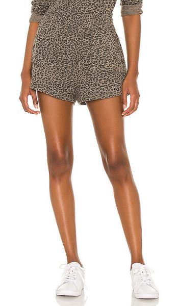 MAJORELLE Sabrina Short in Brown,Black in leopard