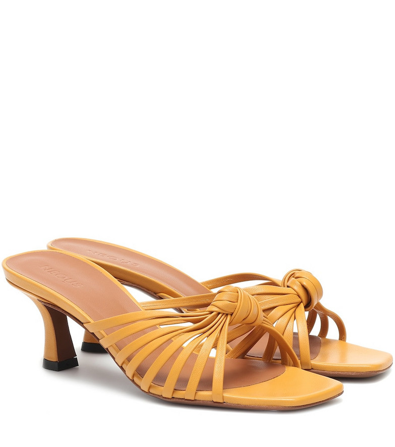 Neous Lottis leather sandals in yellow