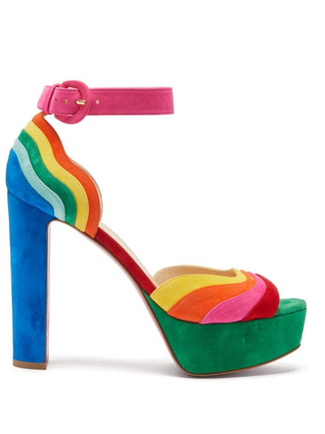 Christian Louboutin - Degratissimo 130 Rainbow Suede Sandals - Womens - Multi