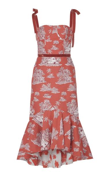 Johanna Ortiz Puebla Nativo Printed Cotton-Blend Midi Dress in print