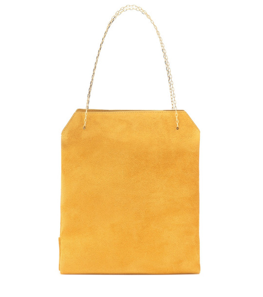 The Row Lunch Small suede shoulder bag in yellow