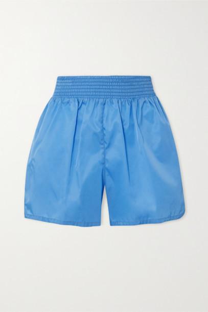 Prada - Appliquéd Nylon Shorts - Blue
