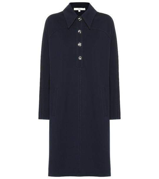 Tibi Stretch-knit minidress in blue