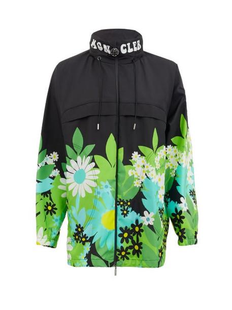 0 Moncler Genius Richard Quinn - Pat Floral-print Nylon Jacket - Womens - Black Multi