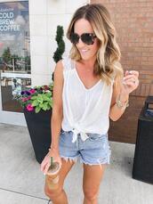 twopeasinablog,blogger,nail polish,tank top,shorts,sunglasses,jewels