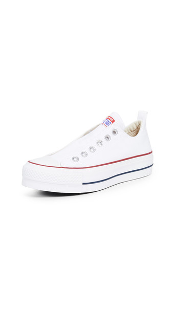 Converse Chuck Taylor All Star Lift Sneakers in blue / red / white