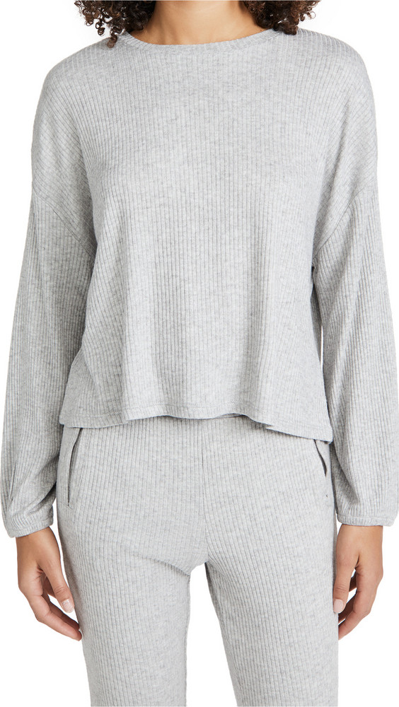Z Supply Annie Rib Top in grey