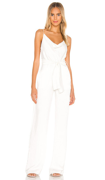 Karina Grimaldi Rocio Solid Jumpsuit in White
