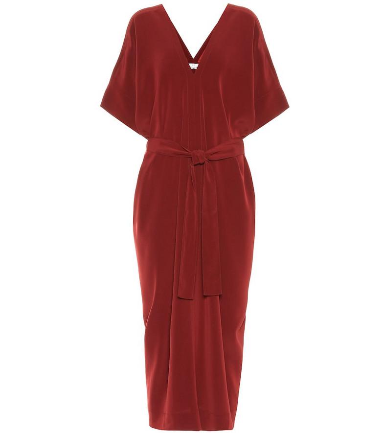 Co Crêpe midi dress in red
