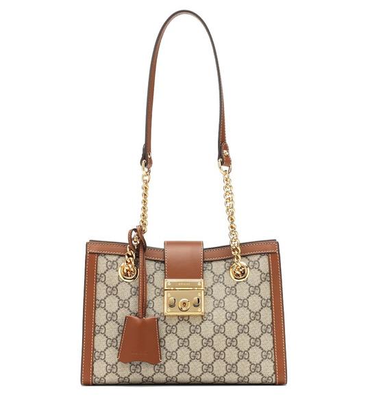 Gucci Padlock Small GG Supreme shoulder bag in brown