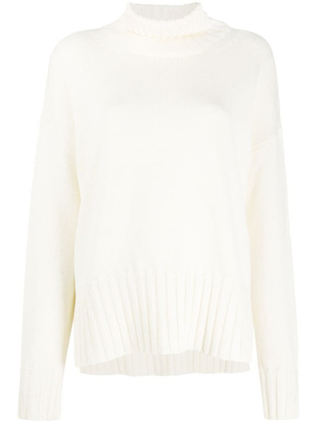 P.A.R.O.S.H. turtle neck chunky knit jumper in white