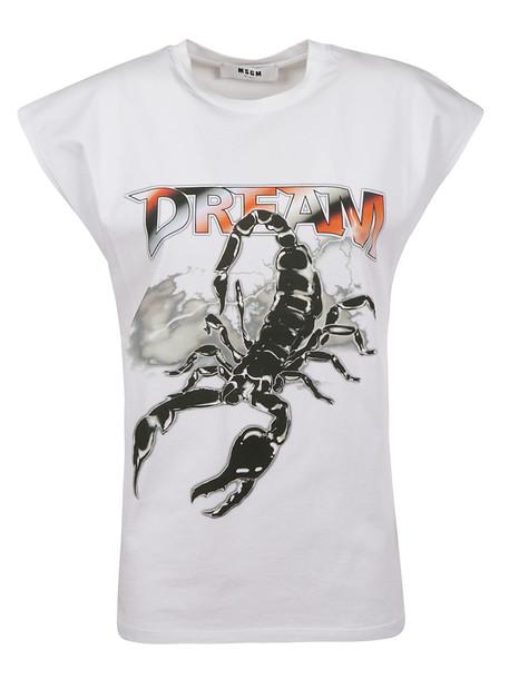 Msgm Scorpion Print T-shirt