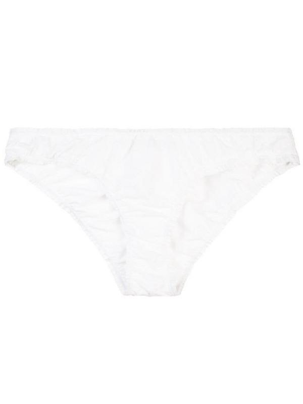 Kiki de Montparnasse Ruffle bikini bottoms in white