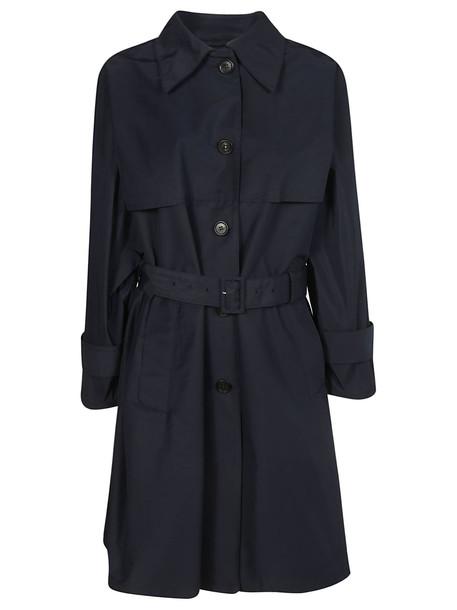 Prada Belted Coat in navy