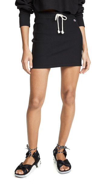 Champion Premium Reverse Weave Ribbed Terry Skirt in black