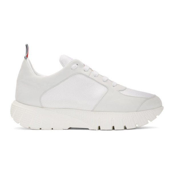 Thom Browne White Raised Running Sneakers