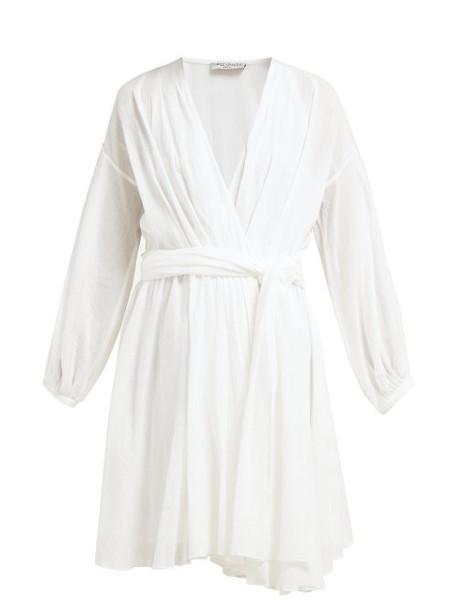Three Graces London - Carina Crinkled Cotton Mini Dress - Womens - White