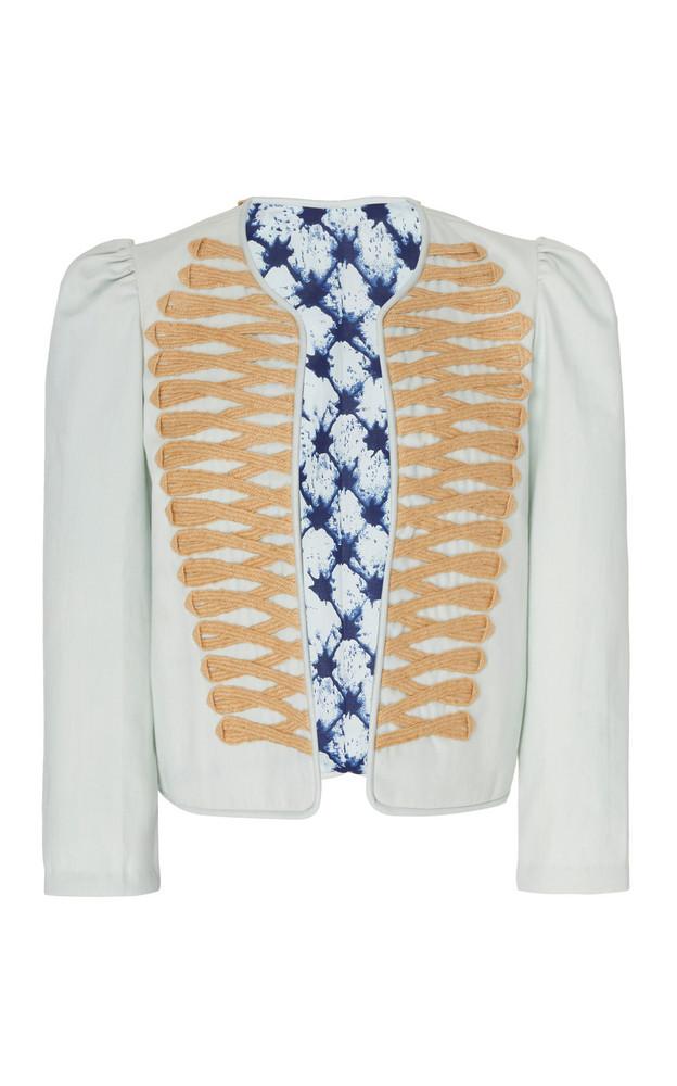 Alix of Bohemia Joni Cotton Jacket Size: XS in blue