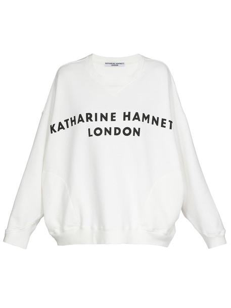 Katharine Hamnett Cotton Sweatshirt in white