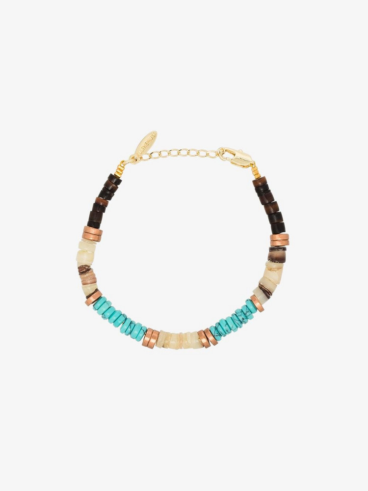 ALL THE MUST gold-plated beaded bracelet in blue