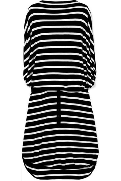 MM6 Maison Margiela - Oversized Striped Knitted Dress - Black