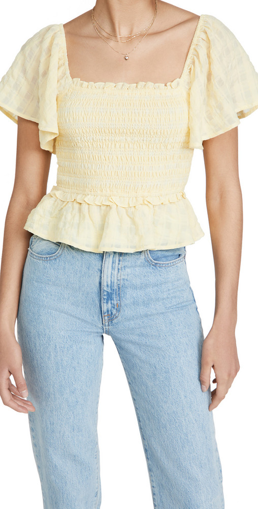 ASTR the Label January Top in yellow